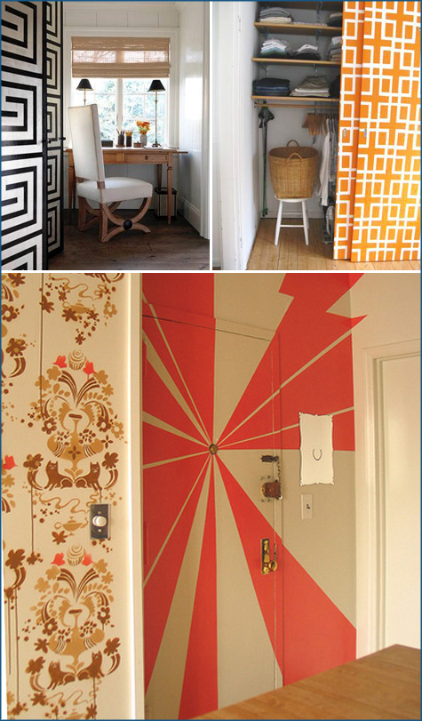 painted closet door ideas. I Especially Love The Idea Of Taking Lackluster Sliding Closet Doors And Giving Painted Door Ideas R