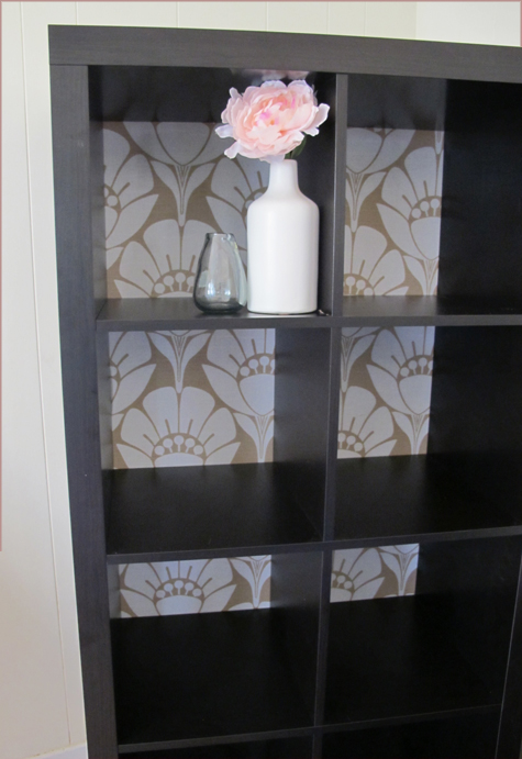 Adding A Fabric Backing To An Everyday Bookcase