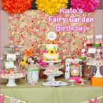 TomKat's Fairy Garden Party 3rd Birthday, Girl's Birthday, Bright Colors, Pastel, Decorations, Dessert Bar, Dessert Buffet