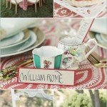 {Summer Inspiration} for a Red & Teal Dinner Party