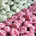 Handmade Crepe Paper Rose Centerpieces