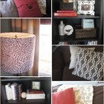 Details: Spanish 1930s Living Room before & after, red, coral, brown, white, diy, handmade