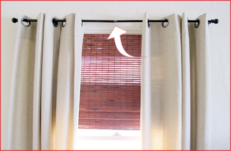 Curtain Rods best way to install curtain rods : DIY Curtain Rods – A Quick Fix for $2 - Pepper Design Blog