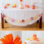 1 Pink & Orange Dessert Table, Kid's Party, Birthday, Girl's Party, Decoration, Inspiration, Ideas