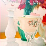 DIY Teacup candleholders, shabby chic, handmade, tea party, votive candles