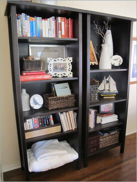 the biggest challenge - Styling Bookcases