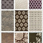 3 Brown and White Patterned Rug