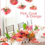 1 Pink Coral Orange, Party Inspiration, Decor, Decorations, Poms, Flowers, Arrangements, Centerpieces, Bridal Shower, Baby Shower, Birthday, Tea Party