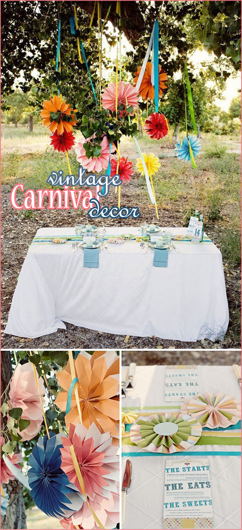handmade ribbon table runners to the swinging twosided paper rosettes