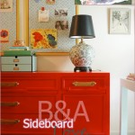 Before & After, DIY, Handmade, Furniture, Dining Room, Sideboard, Credenza, Buffet, Dresser, Paint, Red, Blue, Turquoise, Yellow, Black, Antique, Vintage, Thrift