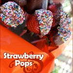 Chocolate Dipped Strawberry Lollipops