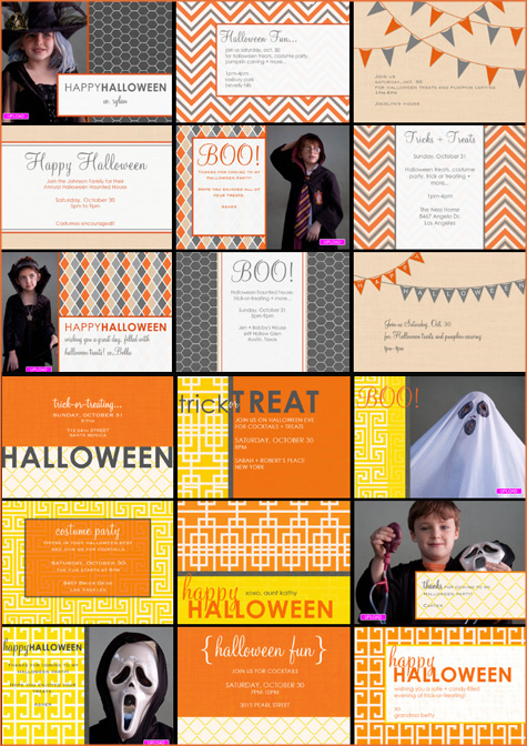 Cocodot Giveaway, Amy Atlas Collaboration, Invitations, Orange, Pink, Blue