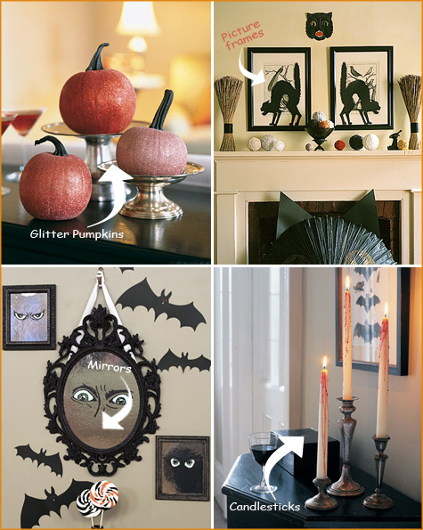 Halloween Inspiration, Halloween Decor, Decorating, Orange, Black, Spooky, Pumpkin, Centerpiece, Tablescape, Mirrors, Windows