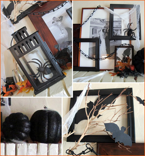 Halloween Mantel, Inspiration, Decor, Decoration