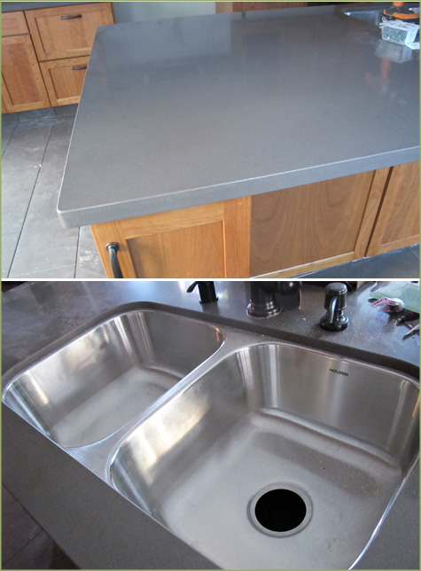 Quartz countertops, Tiffany Grey, Hanstone, Spanish Kitchen Remodel