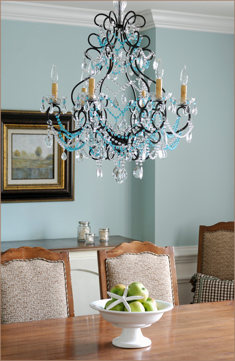 Layla Grace - Guest Blog Interview PDB - Chandelier - Blue - Dining Room
