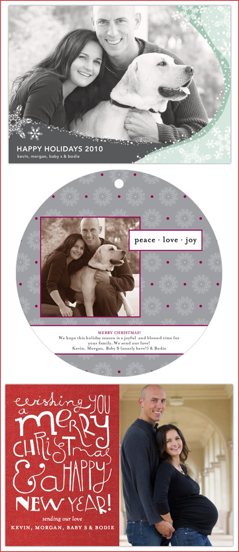 Tiny Prints, Maternity Christmas Cards, Modern, Contemporary