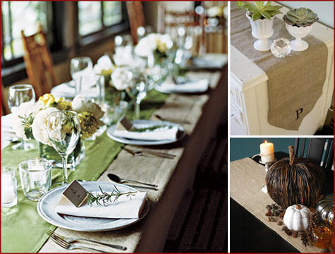 Burlap has a country rustic appeal that works beautifully in vintage