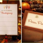 Thanksgiving Printable Images, Placecards, Labels, Gifts, Dessert Buffet, Orange, Brown, Fall