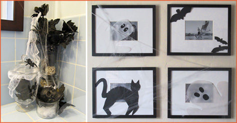Halloween Inspiration, Decor, Decorating, Home, Living Room, Picture Frames, Frame, Shadow Cut Out, Black Cat
