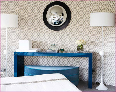 La Dolce Vita Guest Blog Interview - High Gloss Magazing, Mag - Pepper Design Blog - Blue Console