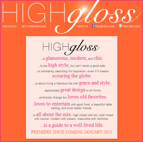 La Dolce Vita Guest Blog Interview - High Gloss Magazing, Mag - Pepper Design Blog