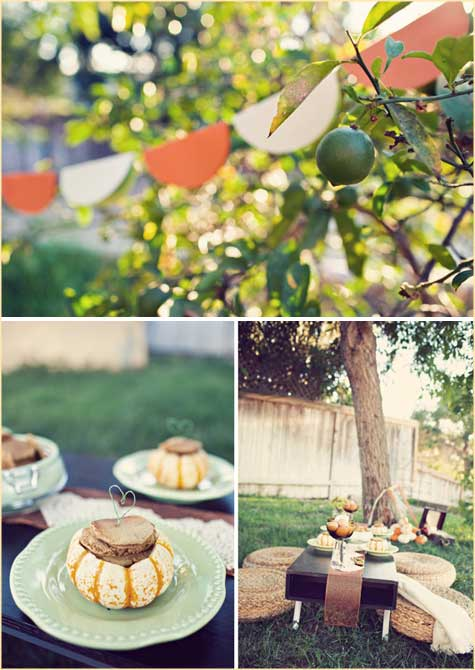 Pumpkin Brunch, October, November, Orange, Breakfast, Party, Decoration, Decor