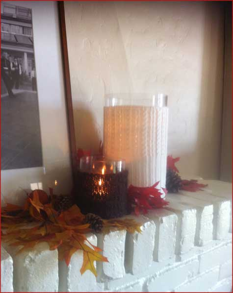 Sweater Vase, Knit Vase, DIY, Handmade, Fall, Decoration, Mantle, Table Centerpiece