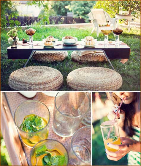 Thanksgiving decor, inspiration, tablescape, outdoor, pumpkin, green