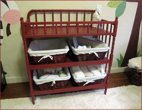 Jenny Lind Changing Table, Red, Modern Contemporary Nursery Furniture, DIY, Painting, Decor Inspiration Design Decoration