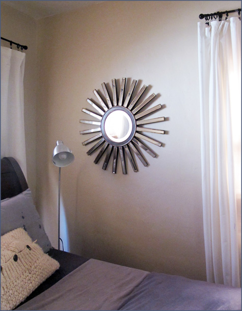 Sunburst, Starburst Mirror, Before and After, Bedroom, Blue Master, Gold, Silver