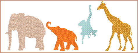 Animal Wall Decals, Wallpaper, Fa