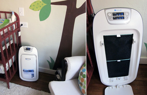 Air Purifier, Nursery, Pepper Design Blog, Stream lined, Clean Design, Allergies