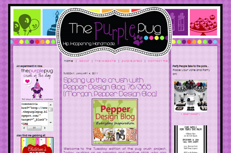 The Purple Pug Guest Blog Interview - Design Crush Project