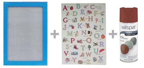 Vintage Alphabet Print for Nursery