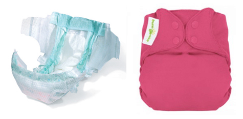 Cloth Diaper Disposable Diaper Comparison Cuter