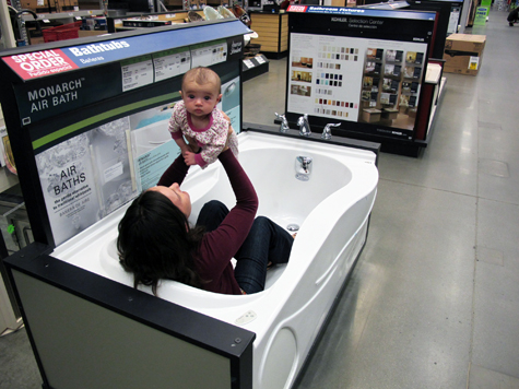 Lowe's Shopping Bathtub 1