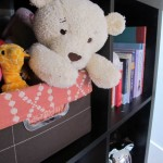 Nursery Bookcase, DIY Project, Basket Liners