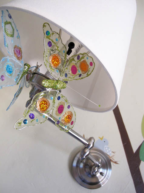 Wall Sconce, Nursery, DIY, Butterflies