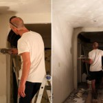 Office Makeover: Plastering by Night