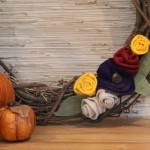 Decorating for Fall: Felt Flower Wreath
