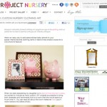 Framed Clothing Art Tutorial on Project Nursery