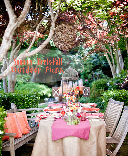 Whimsical SummerMeetsFall Outdoor Party  Pepper Design Blog