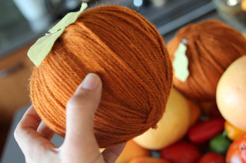 Yarn Pumpkins | Pepper