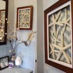 Quick Bathroom Update: Fabric Shadow Boxes