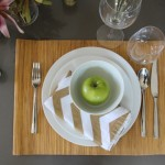 DIY Chevron Painter's Tape Cloth Napkins