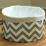 Building a Bathroom: Chevron Cloth Bag