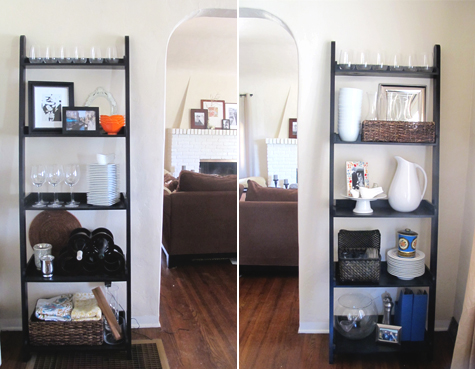 Dining Room Update: New Finds for the Bookshelves - Pepper Design Blog