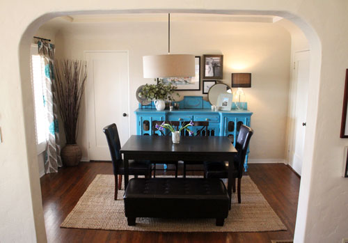 Dining Room Dilemma: A Colorful Bench - Pepper Design Blog