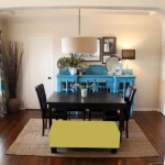 Dining Room Dilemma: A Colorful Bench